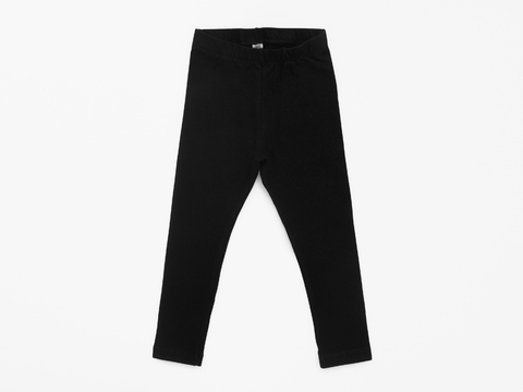 cotton/lycra legging - solid black