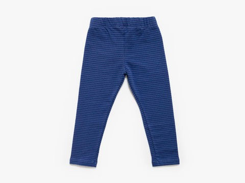 cotton / lycra legging - indigo stripes