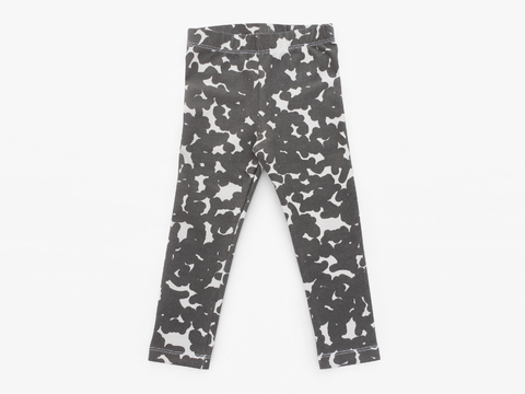 cotton/lycra legging - graphite noise