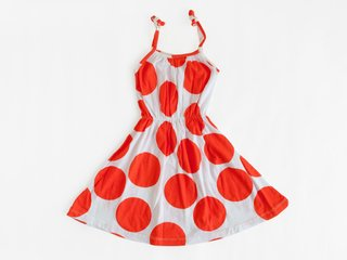 strappy sundress - pumpkin dots (copia)