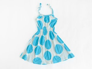 strappy sundress - acqua dots