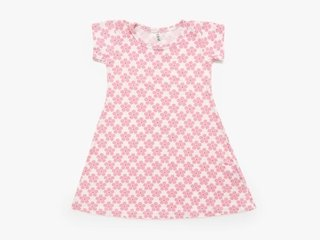 girl A line dress - pink pansy