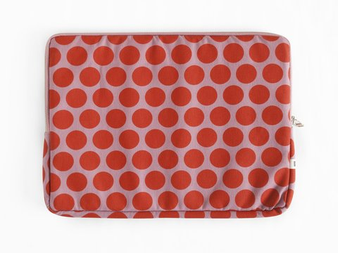 notebook sleeve - pumpkin dots