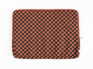 notebook sleeve - black dots