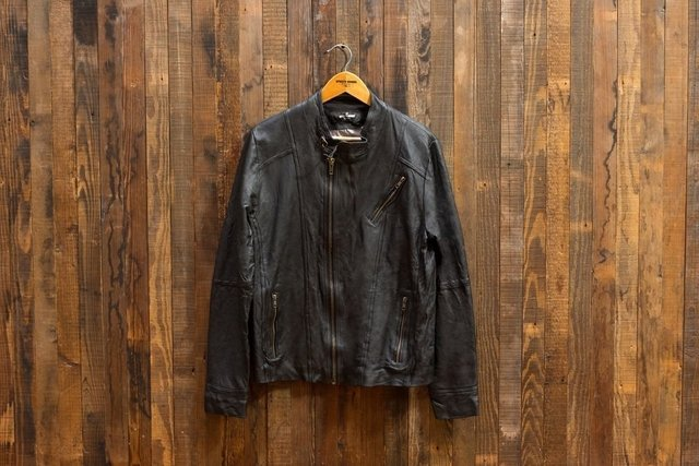 Leather Jacket Skill Black