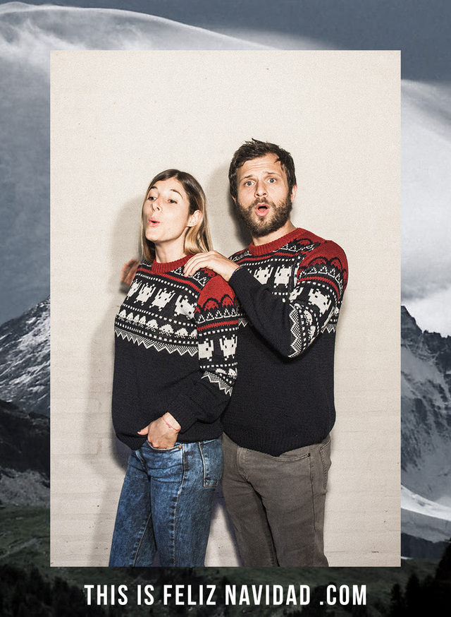 Invader Sweater - This Is Feliz Navidad
