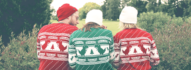 Offline Dino Sweater (Red) - This Is Feliz Navidad