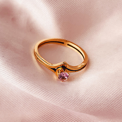 Anillo Hollywood - rosa