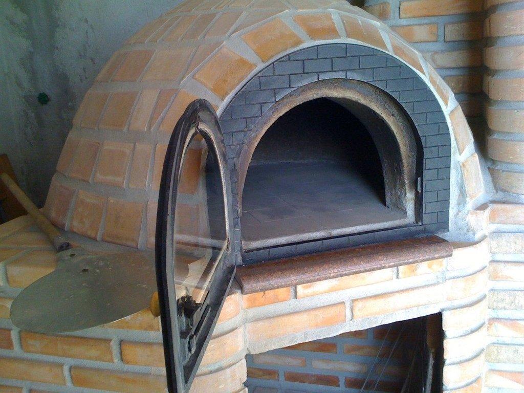 Porta Forno de Pizza Tijolinho Tampa Vidro