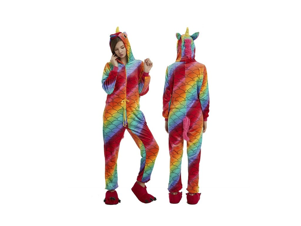 Pijama Kigurumi  Colorido con Escamas Unicornio