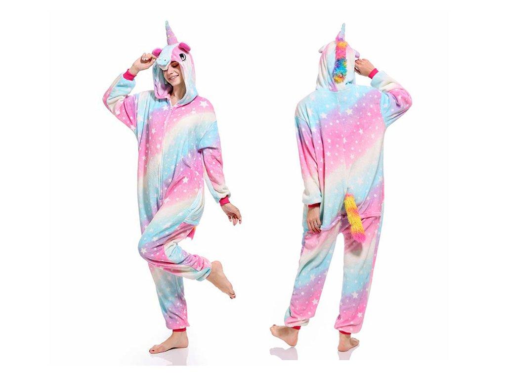 Pijama Kigurumi  Colorido con Estrellitas Unicornio (copia)
