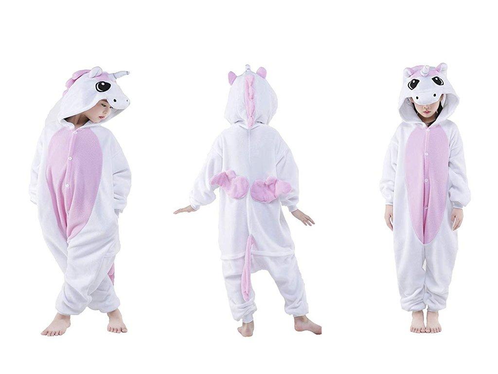 Pijama Kigurumi  Con Alas Rosa Unicornio