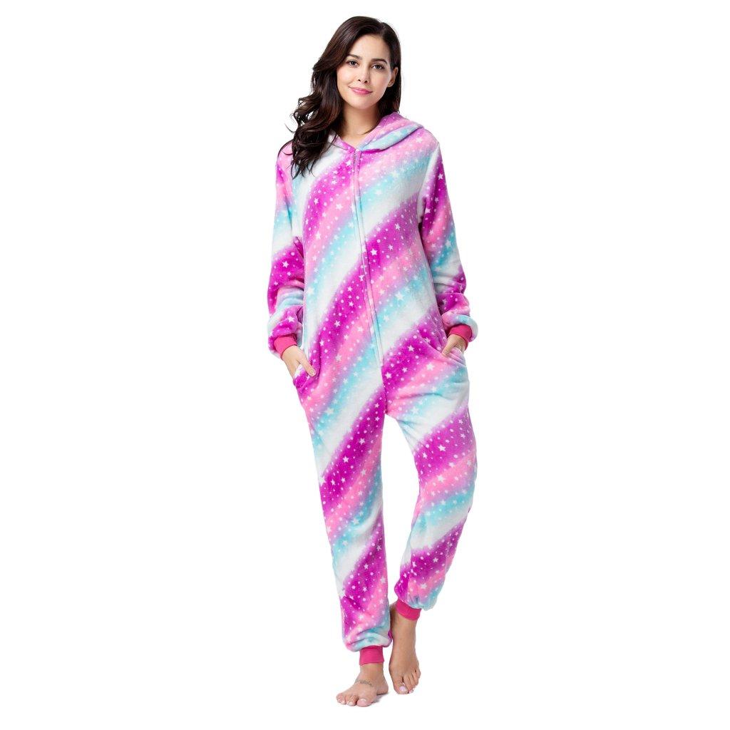 Pijama Kigurumi Multicolor Rayado Diagional Unicornio