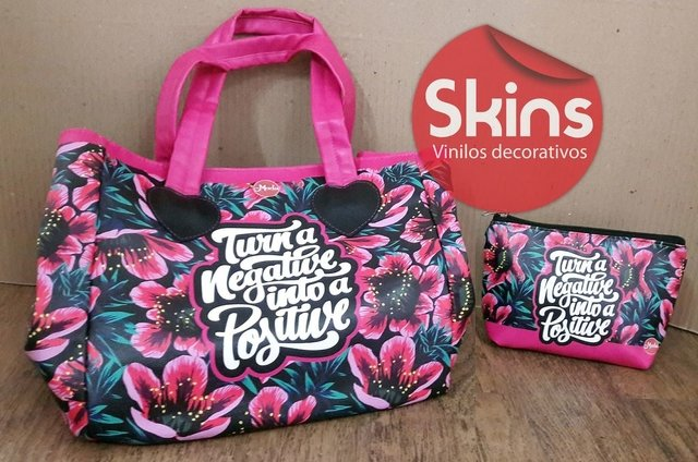 Shopping bag  / Cartera Bolso Ecocuero Estampado Impermeable