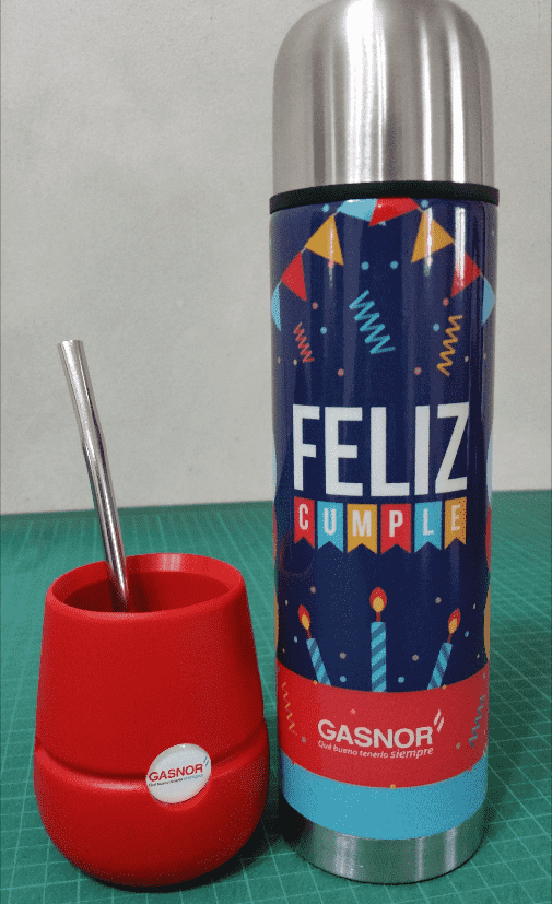MATE AMIGO CON LOGO (DOME FULL COLOR IMPRESO) - Skins