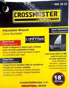Llave Ajustable Crossmaster 18 Pulgadas 457mm 9943022 en internet