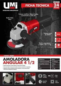 Amoladora Angular Umi Hu002 De 115 Mm 850w Industrial