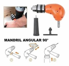 Mandril Angular Adaptador Para Taladro Tactix 545089 en internet