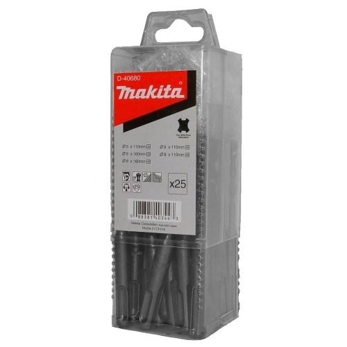Juego Set Mechas Makita Sds Plus 25 Pzas Rotomartillo D40680
