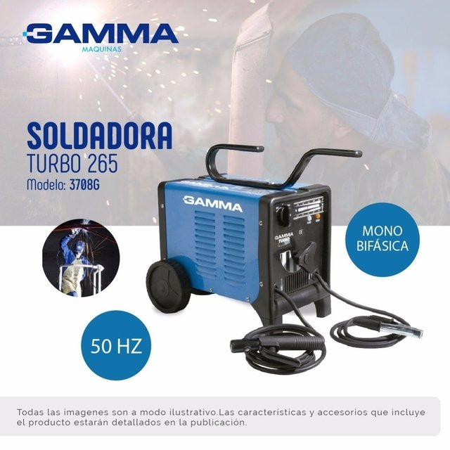 Soldadora Electrica Gamma 3708g Turbo 265 3,25m - buy online