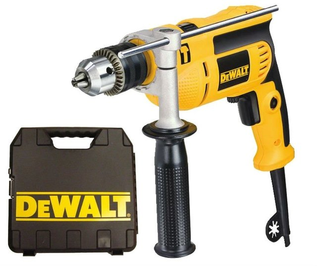 Taladro Percutor Atornillador Dewalt Dwd024K 650 W 13mm Veloc Variable Con Maletin