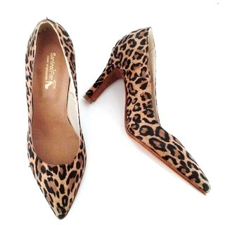 Stiletto cuero animal print