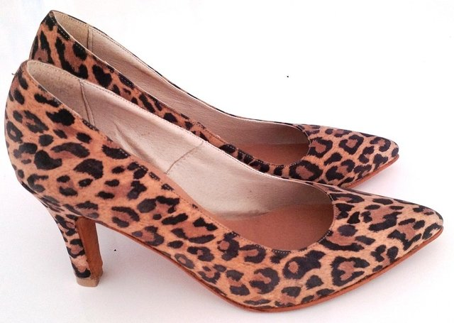 Stiletto cuero animal print - Santina Fran