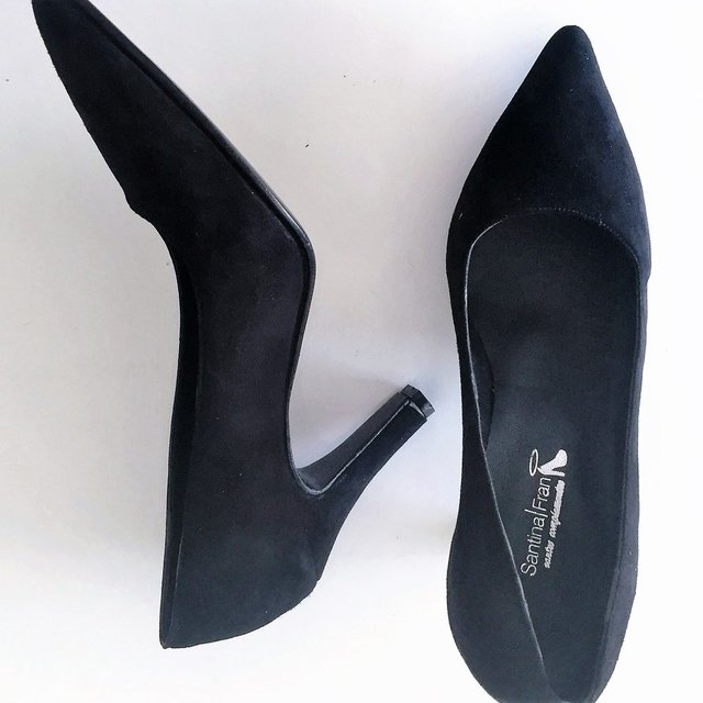 Stiletto Gamuza NEGRO