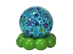 Groovy Globe - Aqua Flower Cloud B