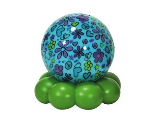 Groovy Globe(TM) - Aqua Flower Cloud B
