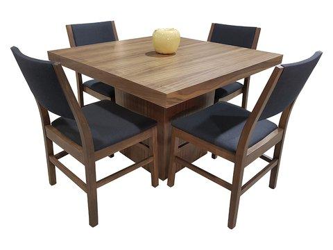 Comedor imperial cuadrado 4 sillas muebles laffayette for Comedor cuadrado 6 sillas