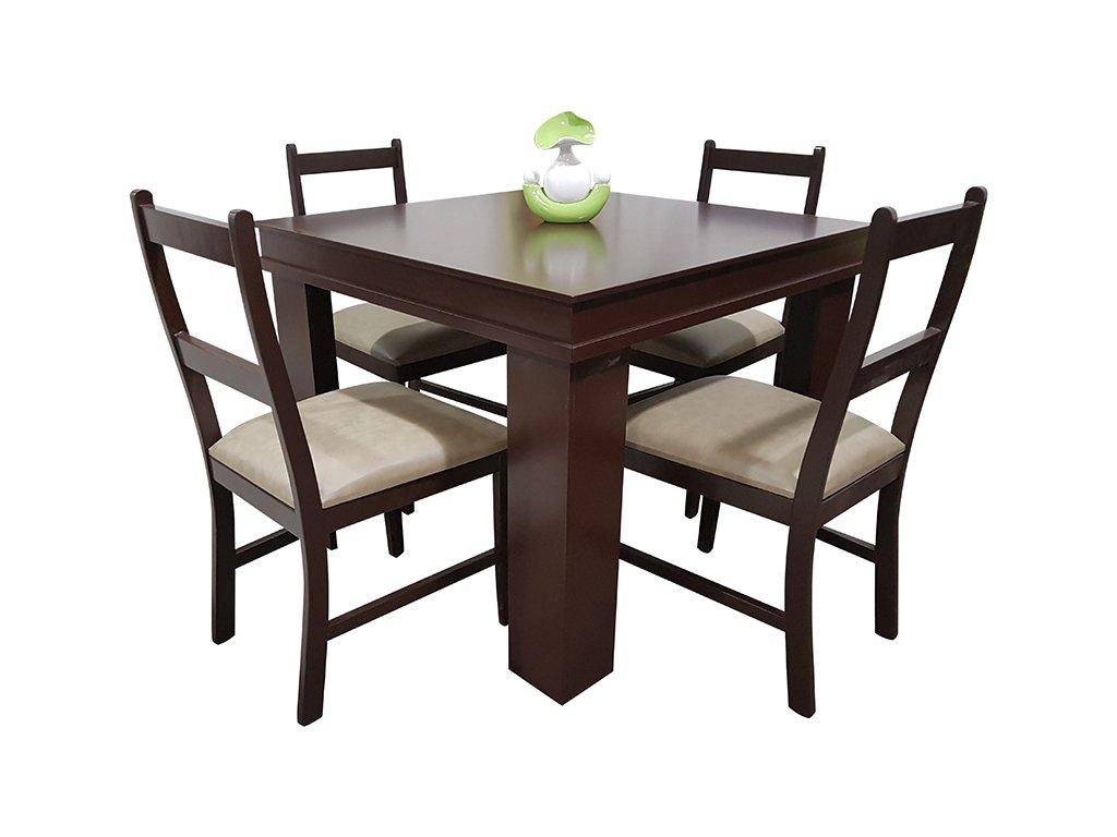 Comedor imperial cuadrado 4 sillas muebles laffayette for Comedor cuatro sillas