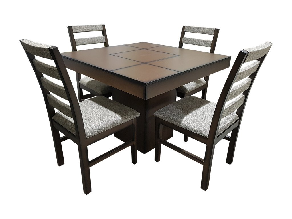 Comedor moniza cuadrado 4 sillas muebles laffayette - Sillas muebles ...