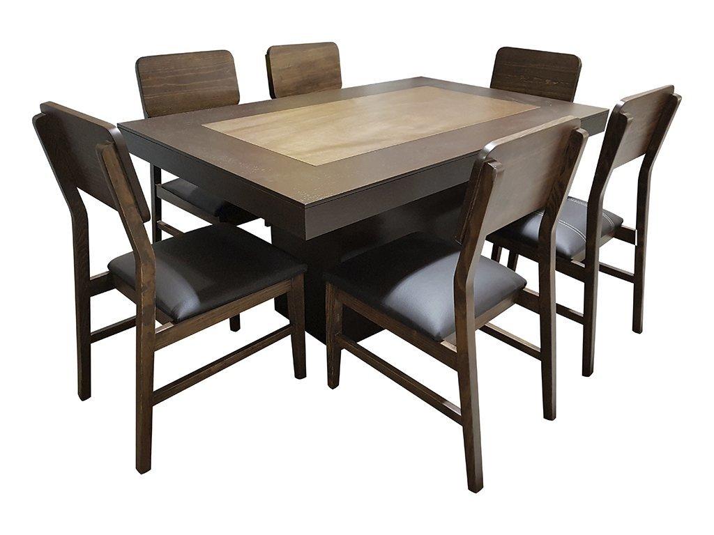 Comedor montana 6 sillas muebles laffayette for Comedor 6 sillas chocolate