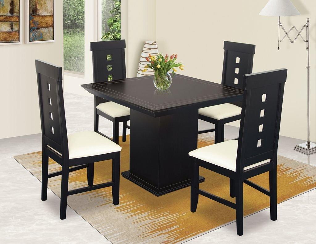 Comedor orgullo cuadrado 4 sillas muebles laffayette for Ver comedores modernos