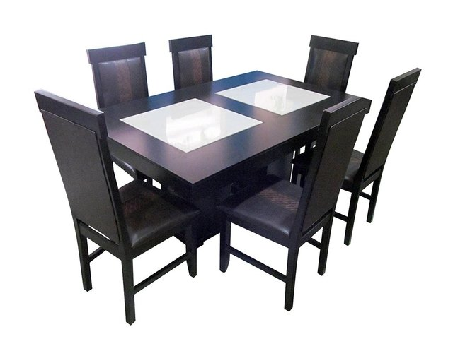 Comedor porcelanato rectangular 6 sillas for Ripley comedores 8 sillas