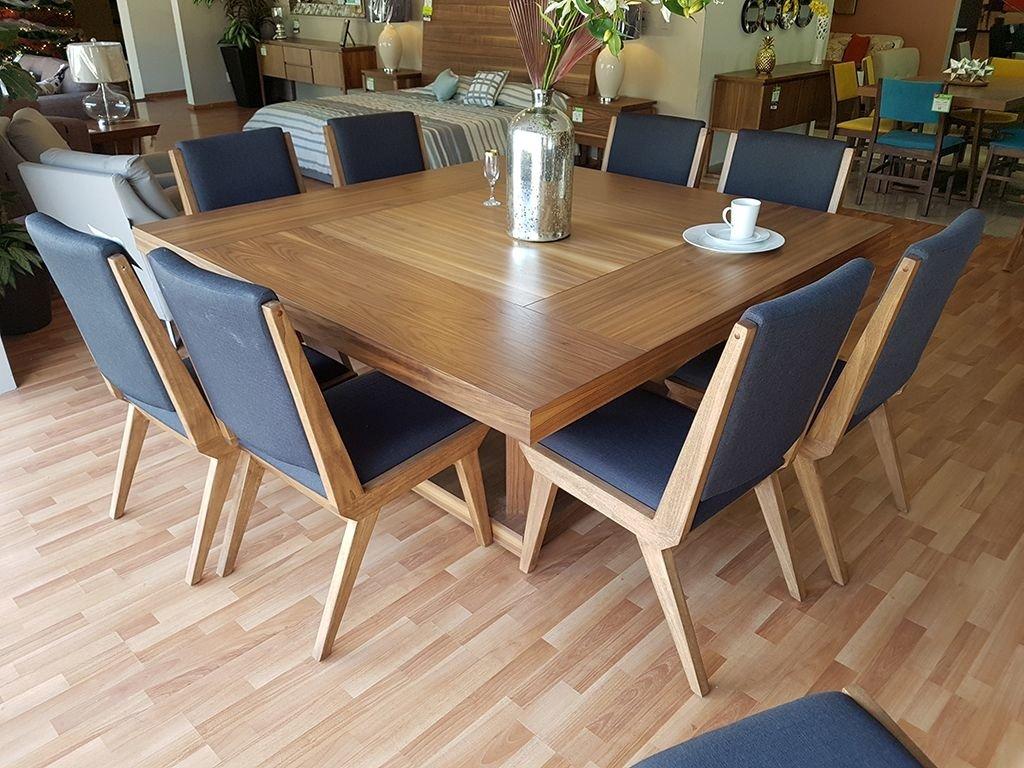 Comedor scalino cuadrado 1 8 x 1 8 muebles laffayette for Comedores de madera cuadrados
