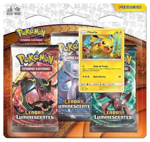 POKEMON - PIKACHU BLISTER TRIPLO LENDAS LUMINESCENTES