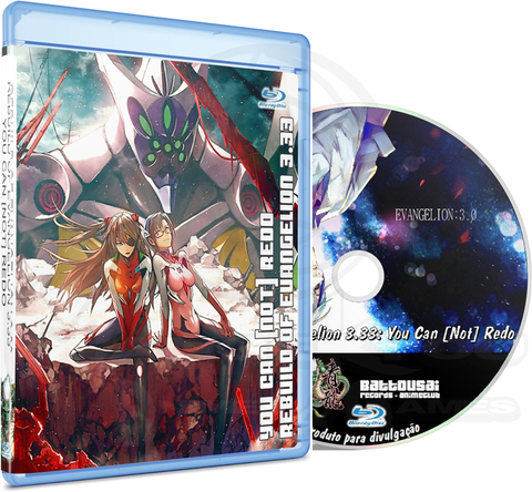 REBUILD OF EVANGELION 3.33 YOU CAN [NOT] REDO - MOVIE (EDIÇÃO FANSUBBER) - BLU-RAY