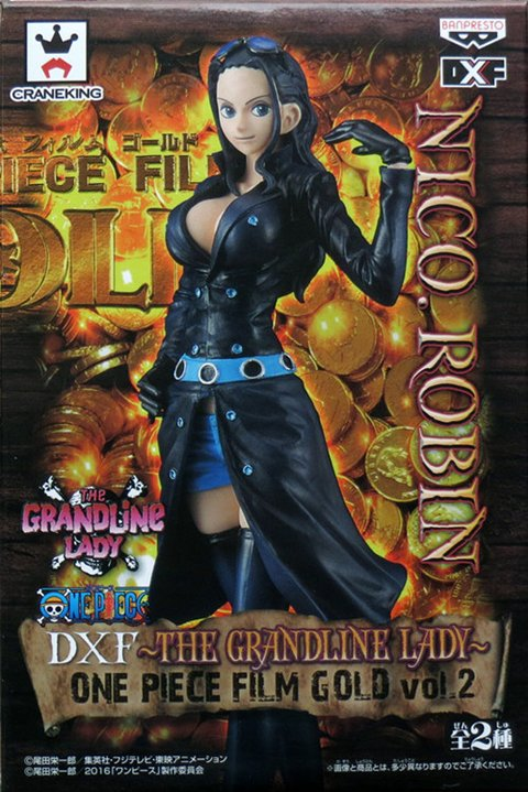 NICO ROBIN DXF GRANDLINE LADY FILM GOLD ONE PIECE BANPRESTO na internet