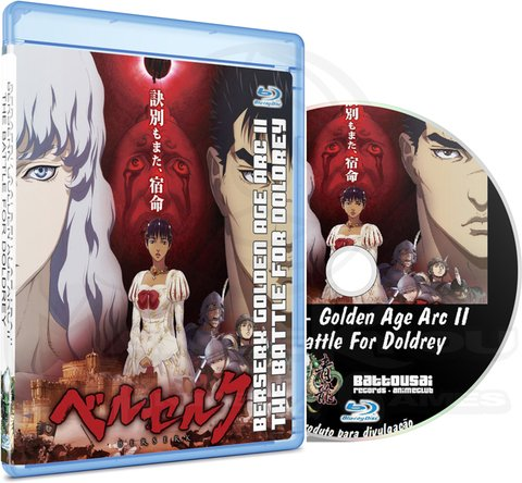 BERSERK GOLDEN AGE ARC II THE BATTLE FOR DOLDREY - MOVIE - BLU-RAY