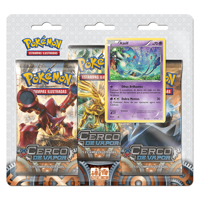 POKÉMON - TRIPLE PACK POKÉMON AZELF XY 11 CERCO DE VAPOR