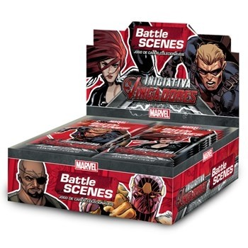 BOX DISPLAY C/ 36 BOOSTERS BATTLE SCENES INICIATIVA VINGADORES
