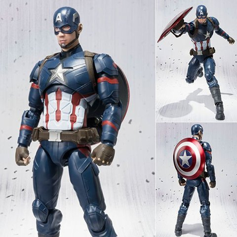 CAPTAIN AMERICA - AVENGERS: AGE OF ULTRON - S.H. FIGUARTS - BANDAI - Mangekyou Store