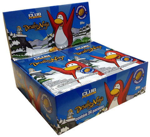 CAIXA BOOSTER CLUB PENGUIN BOOSTER DESAFIO-NINJA - 24 BOOSTERS