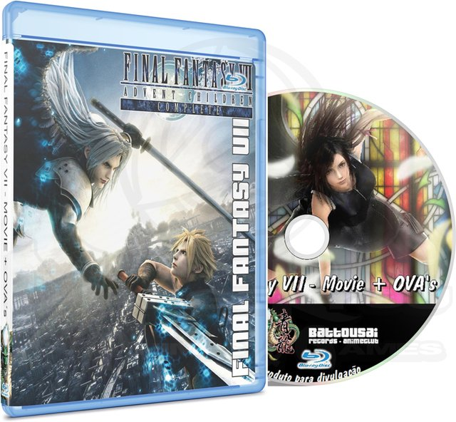 FINAL FANTASY VII MOVIE + OVAs - MOVIE (EDIÇÃO FANSUBBER) - BLU-RAY