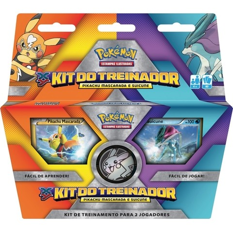 KIT DO TREINADOR - PIKACHU MASCARADA E SUICUNE