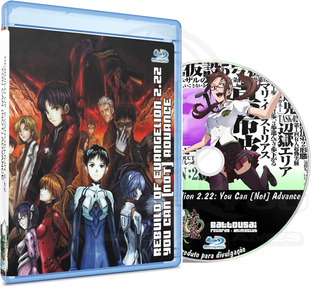 REBUILD OF EVANGELION 2.22 YOU CAN (NOT) ADVANCE - MOVIE (EDIÇÃO FANSUBBER) - BLU-RAY