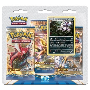 POKÉMON TRIPLE PACK UMBREON XY 9 TURBO COLISÃO