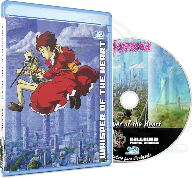 WHISPER OF THE HEART - MOVIE (EDIÇÃO FANSUBBER) - BLU-RAY